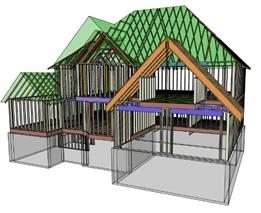 Warren Trask, Warren Trask Company, Premium Building Materials, Building Materials, 3D Framer image, House, Engineered Wood