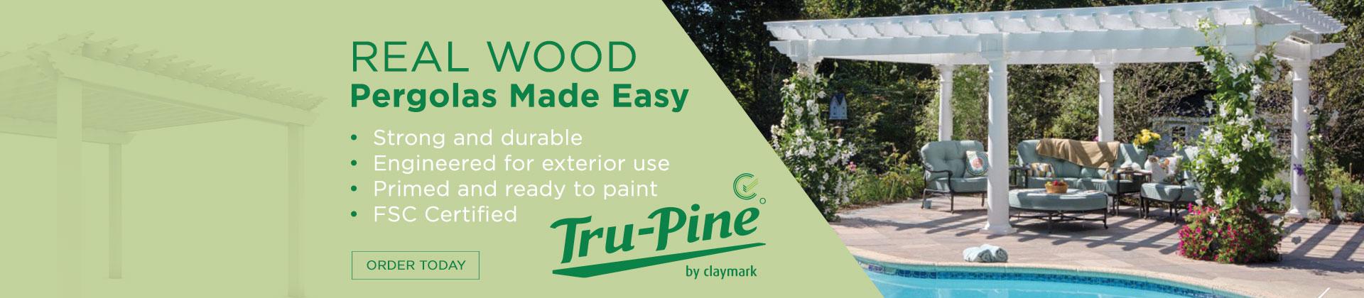 Warren Trask, Warren Trask Company, Premium Building Materials, Building Materials, Tru-Pine, Claymark, pergolas, banner